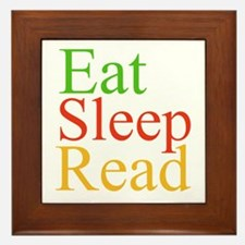 Eat Sleep Read Framed Tile