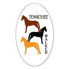 Tennessee Walkers in Colors Oval Decal