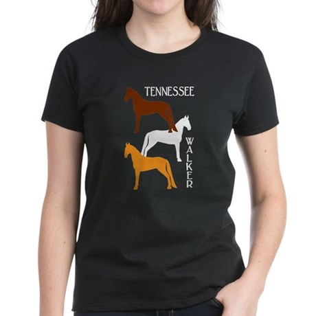 Tennessee Walkers in Colors Women's Dark T-Shirt