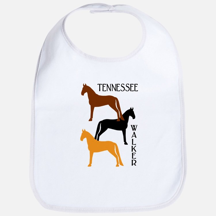 Tennessee Walkers in Colors Bib