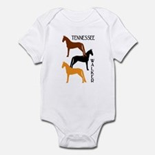 Tennessee Walkers in Colors Infant Bodysuit