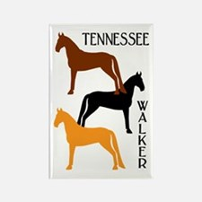 Tennessee Walkers in Colors Rectangle Magnet