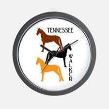 Tennessee Walkers in Colors Wall Clock