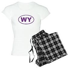Wyoming WY Euro Oval PURPLE Pajamas