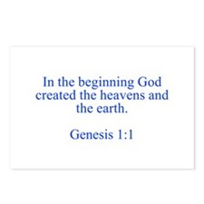 In the beginning God created the heavens and the e