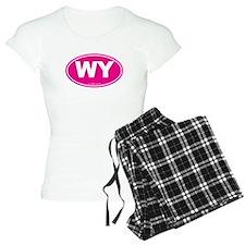 Wyoming WY Euro Oval PINK Pajamas