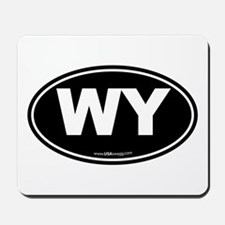 Wyoming WY Euro Oval Mousepad