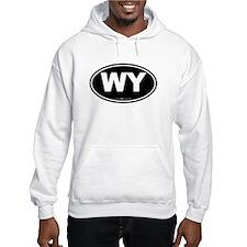 Wyoming WY Euro Oval Hoodie