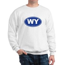 Wyoming WY Euro Oval BLUE Sweatshirt