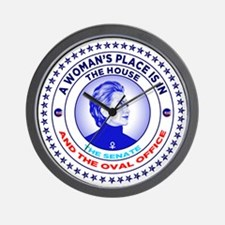 A Woman's Place is in the House the Sen Wall Clock