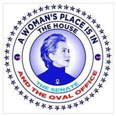 A Woman's Place is in the House the Senate and th Poster