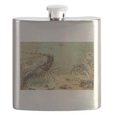 Vintage Marine Life, Shrimp Flask