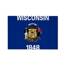 Wisconsin State Flag Magnets