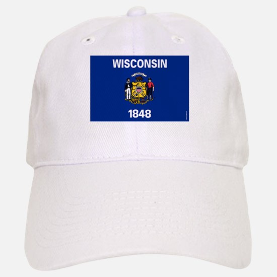 Wisconsin State Flag Baseball Baseball Baseball Cap