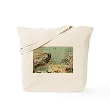 Vintage Marine Life, Shrimp Tote Bag