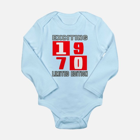 Exciting 1970 Limited Long Sleeve Infant Bodysuit