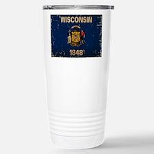 Wisconsin State Flag VINTAGE Travel Mug