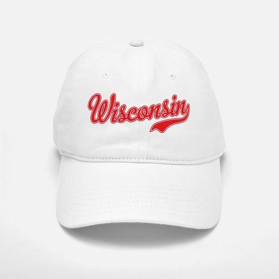 Wisconsin Script Font Baseball Baseball Baseball Cap