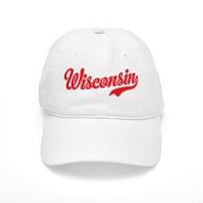 Wisconsin Script Font Baseball Baseball Cap