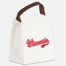 Wisconsin Script Font Canvas Lunch Bag