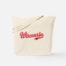 Wisconsin Script Font Tote Bag