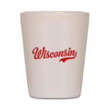 Wisconsin Script Font Shot Glass