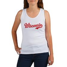 Wisconsin Script Font Tank Top