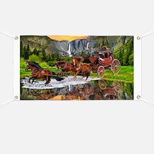 Wells Fargo Stagecoach Banner