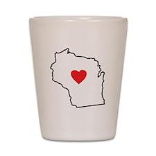 I Love Wisconsin Shot Glass