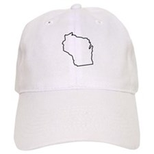 Wisconsin State Outline Baseball Cap