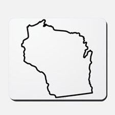 Wisconsin State Outline Mousepad