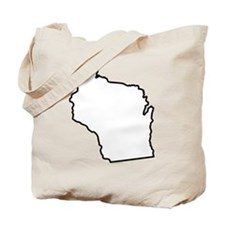 Wisconsin State Outline Tote Bag