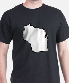 Wisconsin State Outline T-Shirt