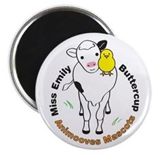 """Miss Emily & Buttercup Anim 2.25"""" Magnet (10 pack)"""