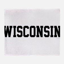 Wisconsin Jersey Black Throw Blanket