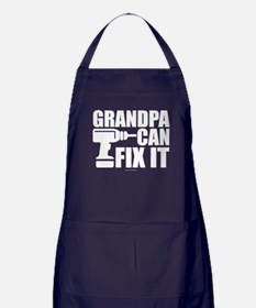 Grandpa Can Fix It Apron (dark)