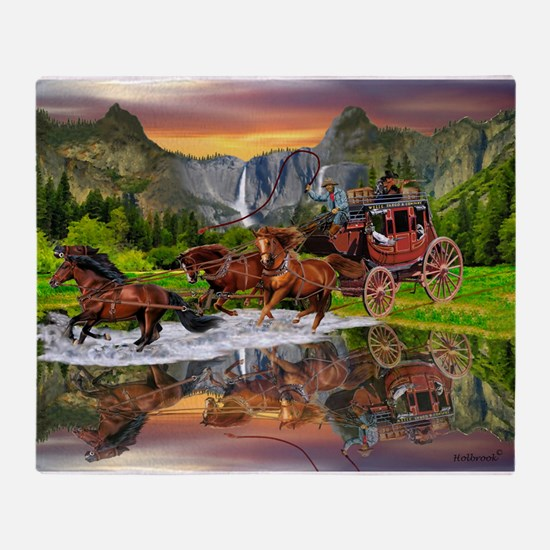 Wells Fargo Stagecoach Throw Blanket
