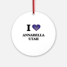 I love Annabella Utah Ornament (Round)
