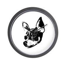 Toy Fox Terrier Wall Clock