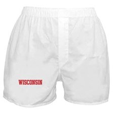 Wisconsin Jersey Red Boxer Shorts