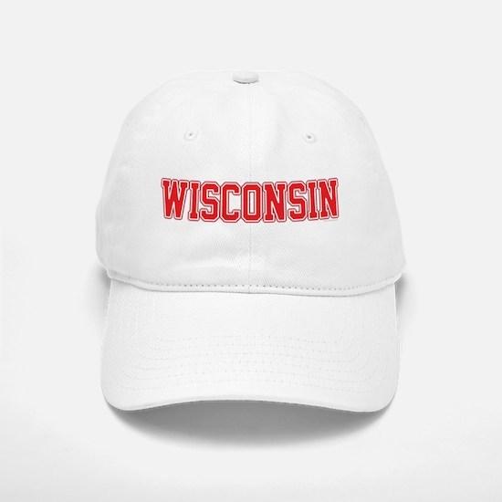 Wisconsin Jersey Red Baseball Baseball Cap