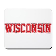 Wisconsin Jersey Red Mousepad