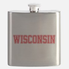 Wisconsin Jersey Red Flask