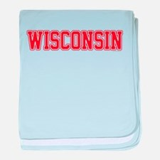 Wisconsin Jersey Red baby blanket