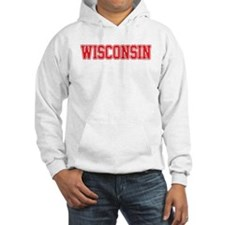 Wisconsin Jersey Red Hoodie