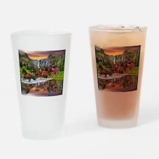 Wells Fargo Stagecoach Drinking Glass