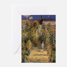 Claude Monet Artists Garden at Veth Greeting Cards