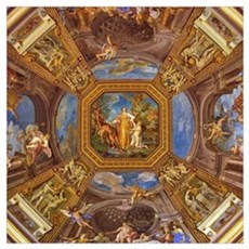 Fresco in the Vatican Museums Canvas Art