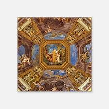 "Fresco in the Vatican Museu Square Sticker 3"" x 3"""