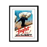 Join the Navy Framed Panel Print